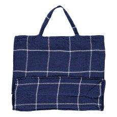Linge Particulier Riesige Tasche aus Leinen Tartan -listing