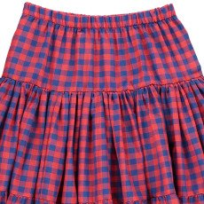 Atelier Barn Lola Checked Cotton & Silk Maxi Skirt-listing