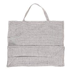 Linge Particulier Bolso gigante lino lavado Rayas Negro - Blanco-listing