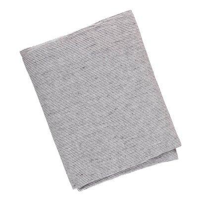 Linge Particulier Tovaglia lino lavato nero-bianco-listing