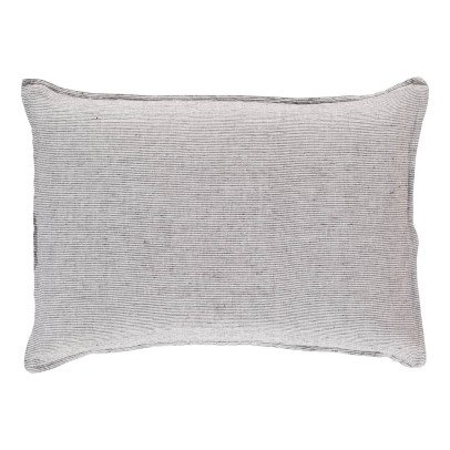 Linge Particulier Federa lino lavato righe nere bianche-listing
