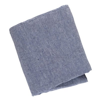 Linge Particulier Chambray Washed Linen Duvet Cover-listing