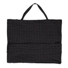 Linge Particulier Large Checked Washed Linen Shopper-listing