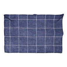 Linge Particulier Tartan Washed Linen Hand Towel/ Tea Towel 55x80cm-listing