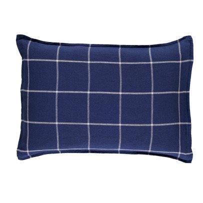 Linge Particulier Federa lino lavato tartan-listing