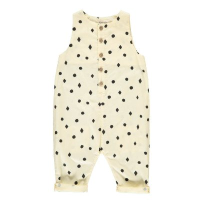 Rylee + Cru Diamond and Polka Dot Jumpsuit Ecru-product