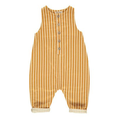 Rylee + Cru Striped Jumpsuit Ochre-listing