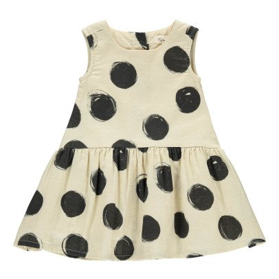 Rylee + Cru Polka Dot Dress Ecru-product