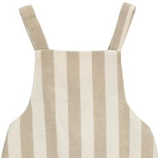 Rylee + Cru Cross Back Striped Playsuit Ivory-listing