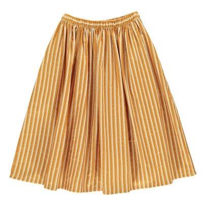 Rylee + Cru Long Striped Skirt Ochre-product
