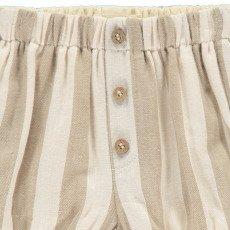 Rylee + Cru Stroped Full Shorts Ecru-product