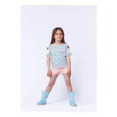 Billieblush T-shirt righe Fiori-listing