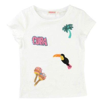 Billieblush T-shirt Paillettes Tropici-listing