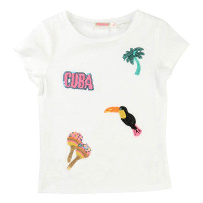 Billieblush T-Shirt Sequins Tropiques-listing
