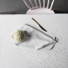 La cerise sur le gâteau Nappe en métis Lina imprimé pluie or-listing