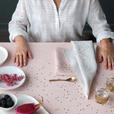 La cerise sur le gâteau Mantel mestizo Lina Estampado lluvia oro-listing