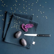 La cerise sur le gâteau Serviette de table Lina pluie or - Set de 2-listing
