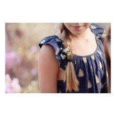 Lison Paris Vestido Espalda Cruzada Bordada Sunset-listing