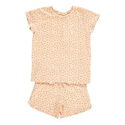 Soft Gallery Nisha Organic Cotton Pyjama T-Shirt + Polka Dot Shorts-listing