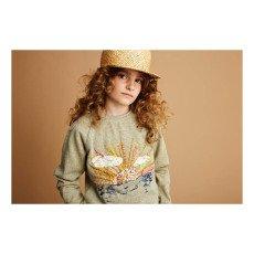 Soft Gallery Monkey Embroidered Lurex Sweatshirt-product
