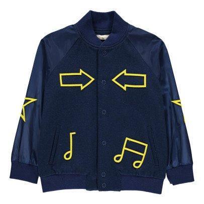 Stella McCartney Kids Ed Patchwork Baseball Jacket-listing