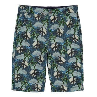 Stella McCartney Kids Lucas Palm Tree Bermuda Shorts-listing