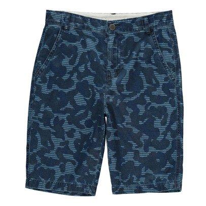 Stella McCartney Kids Bermuda-Shorts Chambray Tarnmuster Lucas -listing