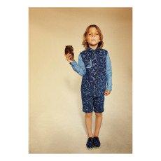 Stella McCartney Kids Lucas Camouflage Chambray Bermuda Shorts-listing