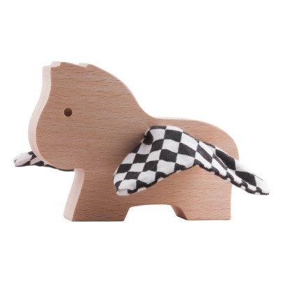 Paulette et Sacha Pegasus Checkboard Wooden Figurine-listing