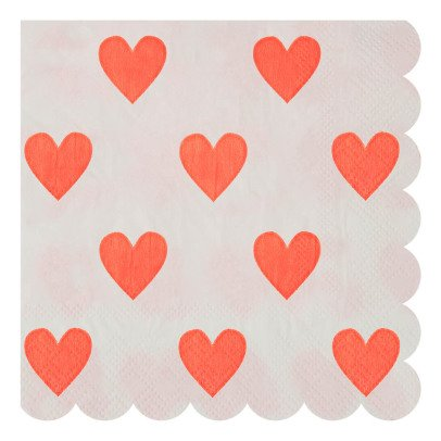 Meri Meri Heart Paper Napkins - Set of 20-product