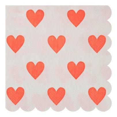 Meri Meri Serviettes en papier motif Coeurs - Set de 20-listing