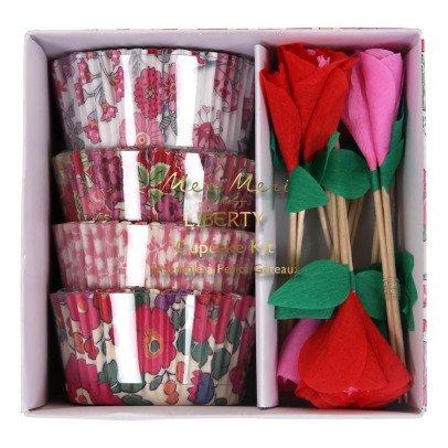 Meri Meri Moûles à gâteaux et décorations Roses - Set de 24-listing