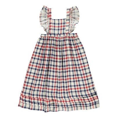Atelier Barn Sasha Japanese Checked Cotton Dress-listing