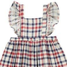 Atelier Barn Sasha Japanese Checked Cotton Dress-listing