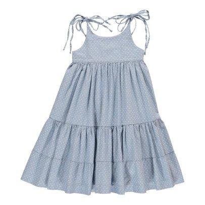 Atelier Barn Marine Polka Dot Maxi Dress-listing