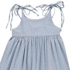 Atelier Barn Kleid mit Punkten Marine -listing