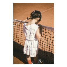 Bobo Choses Organic Cotton Ribbed Tennis Dress-listing