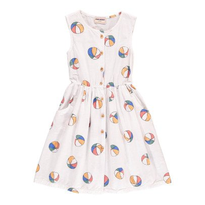 Bobo Choses Beach Ball Percale Burn Out Button-Up Dress-product