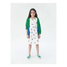 Bobo Choses Beach Ball Percale Burn Out Button-Up Dress-listing