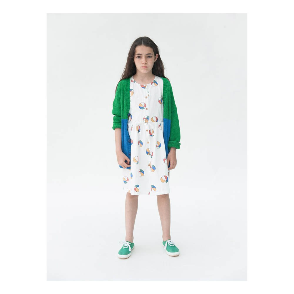 Beach Ball Percale Burn Out Button-Up Dress-product