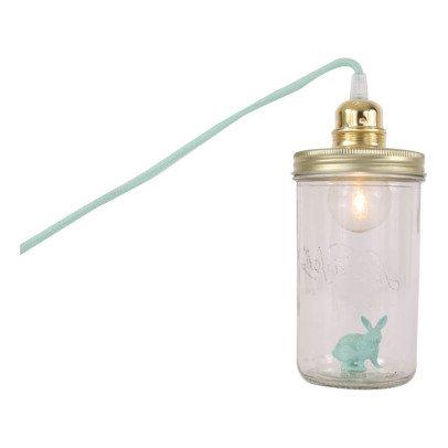 La tête dans le bocal Lampe bocal à poser Lapin-listing