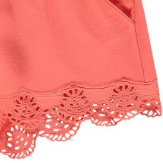 Chloé Embroidered Detail Fleece Shorts-listing