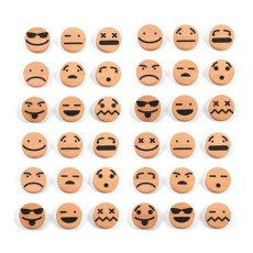Wodibow Emoticonos de madera imantada - Set de 20 piezas-listing