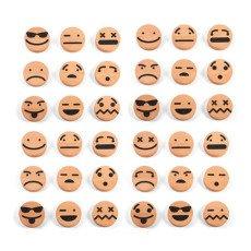 Wodibow Emoticons di legno magnetico - Set 20 pezzi-listing