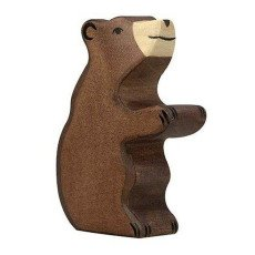 product-Holztiger Small Wooden Bear Figurine