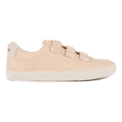 Veja 3-Lock Leather Velcro Trainers-product