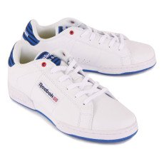 Reebok NPC Striped Lace-Up Leather Trainers-listing