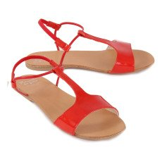 Manuela de Juan  Mikonos Patent Leather Sandals-listing