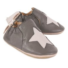 Easy Peasy Star Blublu Leather Slippers-listing