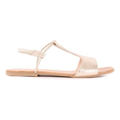 Manuela de Juan  Mikonos Iridescent Leather Sandals-listing